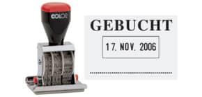 Datumsstempel Gebucht 4mm COLOP 04060L3 45x30mm Produktbild