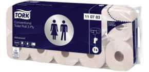 Toilettpapier 3-lag.60RL weiß TORK 110783 Prem.SysT4 Produktbild