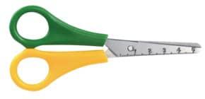 Kinderschere 5cm Maß gelb/or. Produktbild