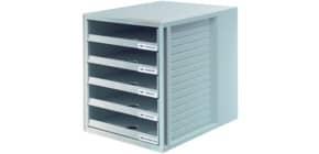 Schubladenbox lichtgrau HAN 1401-11 5 offene Schuebe Produktbild