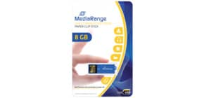 USB Stick 2,0 ClipOn blau inkl. URA MEDIARANGE MR975 8GB Produktbild