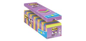 Haftnotizblock 76x76mm 90Bl sort POST-IT 654SE24P 24Bk SupSticky Produktbild