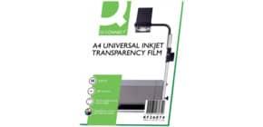 Inkjet Folie A4 Q-CONNECT KF26074 50 Klebestr.ob Produktbild