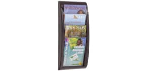 Wand-Prospekthalter A4 schwarz PAPERFLOW 4061.01 QuickBlick Produktbild
