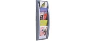 Wand-Prospekthalter A5 silber PAPERFLOW 4063.35 QuickBlick Produktbild