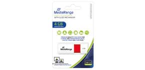 USB Stick 4GB rot MEDIA RANGE MR970 2.0 Produktbild