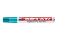 Permanentmarker 3000 1,5-3mm türkis EDDING 3000-014 Rundspitze nachfüllbar Produktbild