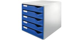 Schubladenbox 5 Laden blau LEITZ 5280-00-35 Produktbild