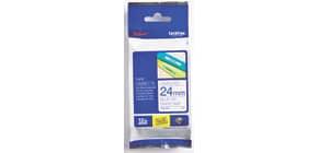 Schriftband  weiß/bl BROTHER TZE253 24mm 8m Produktbild