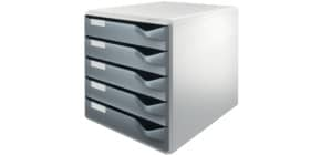 Schubladenbox 5 Laden grau LEITZ 5280-00-89 Produktbild