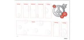 Schreibunterlage 60x42cm RNK 46611 Love & Peace Produktbild