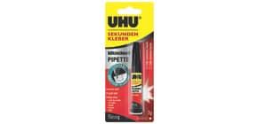 Sekundenkleber 3g mit Pipette UHU 45570 blitzschnell Produktbild