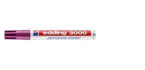 Permanentmarker 3000 1,5-3mm rotviolett EDDING 3000-020 Rundspitze nachfüllbar Produktbild