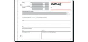 Quittung A6 quer, 50 Blatt SIGEL QU615, mit MwSt-Nachweis Produktbild