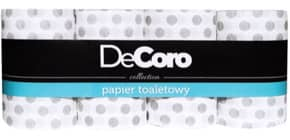 Toilettenpapier 3lagig 8x135 BL weiß DEKORO HI-719964 Produktbild