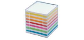 Zettelbox 9.5x9.5x9.5 glasklar FOLIA 9903 Papier weiss+fbg. Produktbild