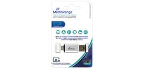 USB Stick 2in1 + MicroUSB inkl. URA MEDIARANGE MR930 2,0  8GB Produktbild