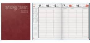 Buchkalender 2021 Magnum weinrot RIDO 70-27 042 291 18,3x24cm Produktbild