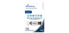 USB Stick 16GB 2.0 MEDIA RANGE MR931 +MicroUSB Produktbild