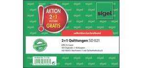 Kassen-Quittung  A6/2x40 Blatt 3 Stück SIGEL T1178 2+1 (gratis) Aktion Produktbild