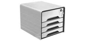 Schubladenbox Smoove 7-311S weiß/schwarz CEP 1073110121 Secure m.Schloss Produktbild