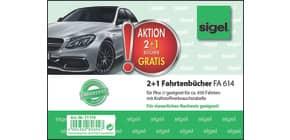 Fahrtenbuch A6 40BL für PKW 3ST SIGEL T1179 2+1 (gratis) Aktion Produktbild