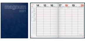 Buchkalender 2021 Magnum blau RIDO 70-27042 381 18,3x24cm Produktbild