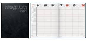 Buchkalender 2021 Magnum schwarz RIDO 70-27 042 901 18,3x24cm Produktbild