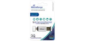 USB Stick 2in1 + MicroUSB inkl. URA MEDIARANGE MR932 2,0  32GB Produktbild