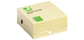 Haftnotizblock 76x76mm gelb Q-CONNECT KF01346, 400 Blatt Produktbild