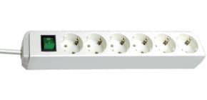 Verteilersteckdose 6-fach weiß BRENNENSTUHL 1159520015 mit Schalter Produktbild