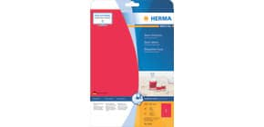 Universaletiketten 210x297 mm neonrot HERMA 5048 20 Stück permanent haftend Produktbild