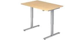 Schreibtisch höhenverstellbar ahorn HAMMERBACHER VXMST12/3/S 120x80cm Produktbild