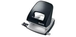 Locher NeXXt Style satin schwarz LEITZ 5006-00-94 mit Anlegeschiene Produktbild