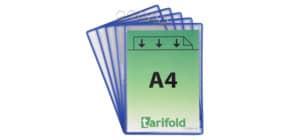 Klarsicht Hängetafel  blau TARIFOLD TA154501 A4h+Öse Produktbild