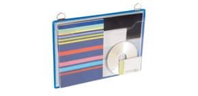 Prospekttasche A4quer blau TARIFOLD TA354101 +2 Ösen Produktbild