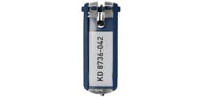 Schlüsselanhänger d.blau DURABLE 1957 07 6ST KEY CLIP Produktbild
