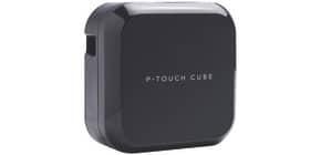 Beschriftungsgerät elektr. schwarz BROTHER PTP710BTZG1 PTouch CUBE Plus Produktbild