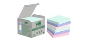 Haftnotizblock 76x76 pastell Rainbow POST-IT 6541GB UWF 100 Blatt 6 Stück Produktbild