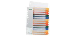 Register A4 1-12 transparent bunte Tabs LEITZ 1294-00-00 Plastik überbreit Produktbild