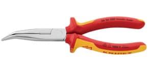 Flachzange gewinkelt 20cm rot/gelb KNIPEX 2626200/0302285 Produktbild