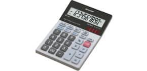 Tischrechner 10-stellig glastop SHARP SH-ELM711GGY dualpower Produktbild