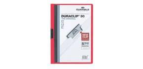 Klemmmappe Duraclip A4 rot DURABLE 2200 03 30 Blatt Produktbild