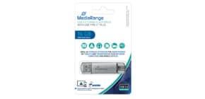 USB Stick 3.0 + TypeC 2in1 inkl URA MEDIARANGE MR935 16GB Kombo Produktbild