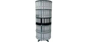 Ordnerdrehsäule 5 Etagen grau R2081B5 D81cm Produktbild
