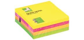 Haftnotizblock 76x76mm neon Q-CONNECT KF01348 320Bl Produktbild