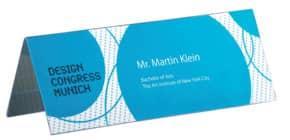 Tischaufsteller 24x9 cm glasklar 5 Stück SIGEL TA130 inkl. Einsteckkarten Produktbild