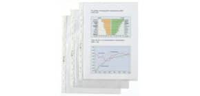 Prospekthülle A4 100 Stück genarbt Q-CONNECT KF01955 0,05mm Produktbild