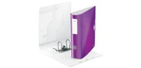 Ordner A4 8cm Active violett met LEITZ 1106-00-62 Wow PP Produktbild