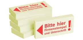 Haftnotiz Firmenstemp+Untersch 1301010125 75x35mm 5Bk Produktbild